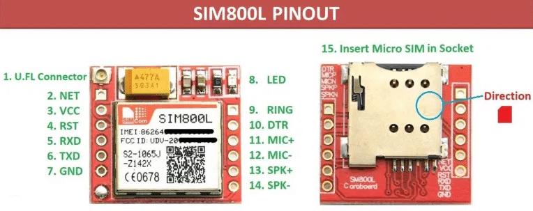 SIM800l подключение
